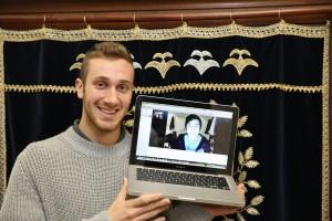 Samuel Kalnitz learning with Georg Khokholyev via Skype.