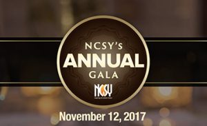 NCSY Gala - Nov 12 at Cradle of Aviation Museum, Long Island NY