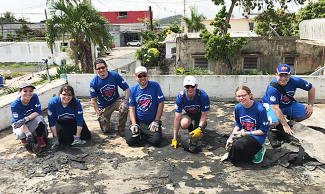 NJ NCSY staff rebuilding in storm-damaged Puerto Rico on Distenfeld Mission